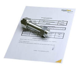 Fasteners with certificate
